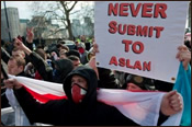 The EDL protests Aslan