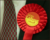 Labour Rosette and Tie